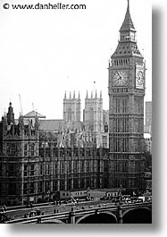 bens, big, big ben, black and white, bridge, cities, england, english, europe, london, united kingdom, vertical, photograph