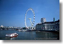 cities, england, english, europe, ferris, ferris wheel, horizontal, london, united kingdom, wheels, photograph
