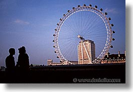cities, couples, england, english, europe, ferris, ferris wheel, horizontal, london, united kingdom, wheels, photograph