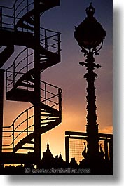 cities, england, english, europe, ferris wheel, london, spiral, stairs, sunsets, united kingdom, vertical, photograph