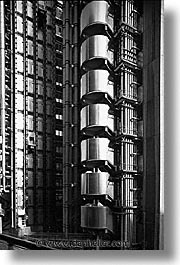 black and white, cities, days, england, english, europe, lloyds, london, united kingdom, vertical, photograph