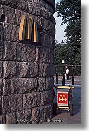 cities, england, english, europe, london, mcdonalds, united kingdom, vertical, walls, photograph