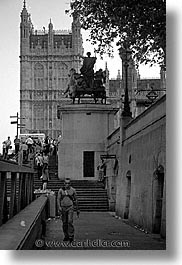 black and white, cities, england, english, europe, london, parliament, united kingdom, vertical, wharf, photograph