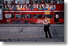 bus, cities, england, english, europe, horizontal, london, people, united kingdom, womens, photograph