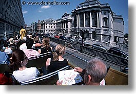 bus, cities, england, english, europe, horizontal, london, people, tours, united kingdom, photograph