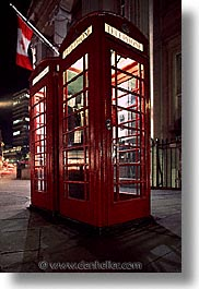 boxes, cities, england, english, europe, london, nite, phones, streets, united kingdom, vertical, photograph