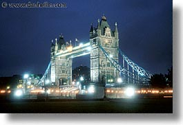 bridge, cities, england, english, europe, horizontal, london, nite, tower bridge, towers, united kingdom, photograph