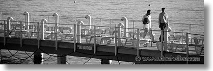black and white, cannes, dock, europe, france, horizontal, panoramic, photograph