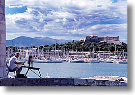 cannes, europe, france, horizontal, painters, photograph