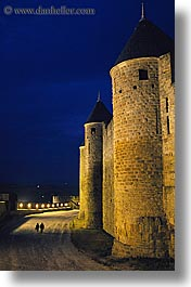 carcassonne, castles, europe, france, grounds, jousting, lower, vertical, photograph