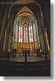 basilica, carcassonne, churches, europe, france, nazarius, stained glass, vertical, photograph
