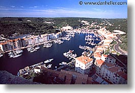 aerials, bonifacio, corsica, europe, france, harbor, horizontal, photograph