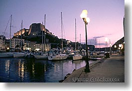 boats, bonifacio, corsica, dusk, europe, france, harbor, horizontal, nite, photograph