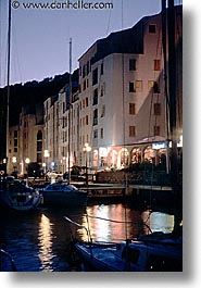 boats, bonifacio, corsica, dusk, europe, france, harbor, nite, vertical, photograph