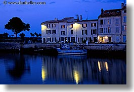 boats, europe, france, harbor, horizontal, ile de re, nite, reflections, water, photograph