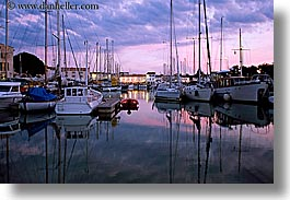 boats, dusk, europe, france, harbor, horizontal, ile de re, nite, reflections, water, photograph