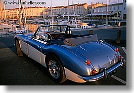 austin, cars, europe, france, healey, horizontal, ile de re, photograph