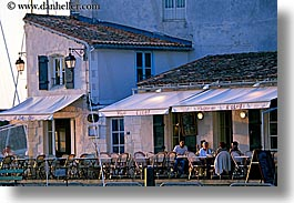 cafes, diners, europe, france, horizontal, ile de re, photograph