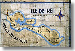 europe, france, horizontal, ile de re, map, tiles, photograph