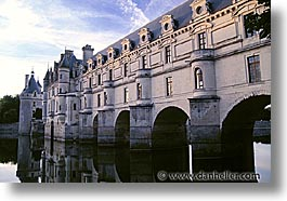 bridge, castles, europe, france, horizontal, loire valley, photograph