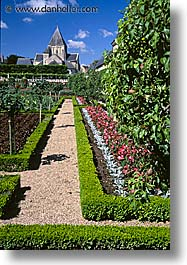 castles, europe, france, gardens, loire valley, vertical, photograph