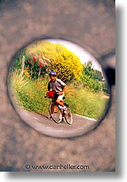 bikers, europe, france, loire valley, reflect, vertical, photograph