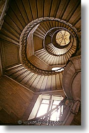 europe, france, lyon, spiral, stairs, vertical, photograph