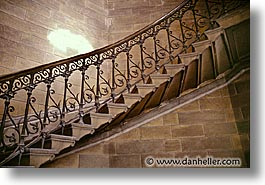 europe, france, horizontal, lyon, staircase, photograph