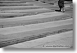 black and white, europe, france, horizontal, lyon, stairs, photograph