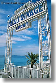 beau rivage, europe, france, nice, ocean, signs, vertical, photograph