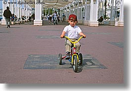bicycles, boys, europe, france, horizontal, nice, tricycle, photograph