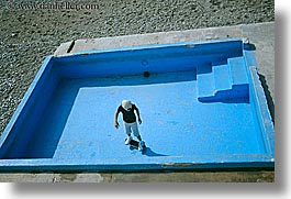 boys, europe, france, horizontal, nice, skateboard, swimming pool, photograph