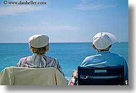 chairs, couples, europe, france, horizontal, nice, ocean, seas, watching, photograph