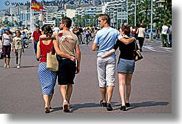 couples, europe, france, horizontal, nice, walking, photograph