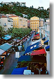 awnings, dusk, europe, france, nice, towns, vertical, photograph
