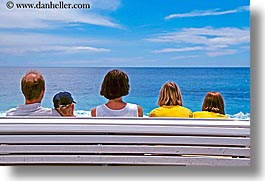 benches, europe, families, france, horizontal, nice, ocean, photograph