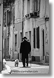 dogs, europe, france, men, nice, vertical, photograph