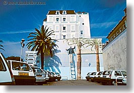 europe, france, horizontal, murals, nice, parking lot, photograph
