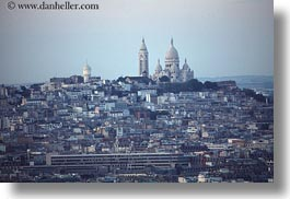 aerials, basilica sacre coeur, europe, france, horizontal, paris, perspective, photograph