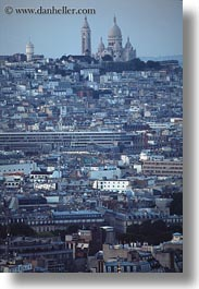 aerials, basilica sacre coeur, europe, france, paris, perspective, vertical, photograph