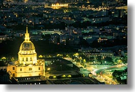 aerials, europe, france, glow, horizontal, invalides, les, lights, nite, paris, perspective, photograph