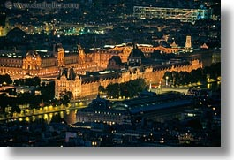 aerials, europe, france, glow, horizontal, lights, louvre, nite, paris, perspective, photograph