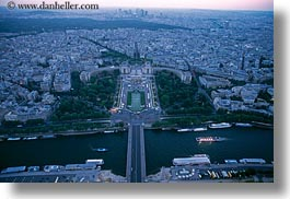 aerials, dusk, europe, france, horizontal, palais de chaillot, paris, perspective, photograph