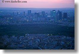 aerials, dusk, europe, france, horizontal, paris, perspective, photograph