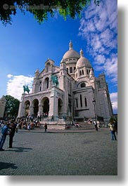 basilica sacre coeur, buildings, europe, france, paris, vertical, photograph