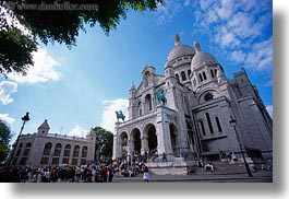 basilica sacre coeur, buildings, europe, france, horizontal, paris, photograph