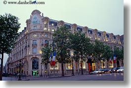 buildings, ccf bldg, dusk, europe, france, horizontal, paris, photograph