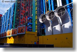 abstracts, arts, buildings, centre, europe, france, georges, horizontal, paris, pompidou, photograph