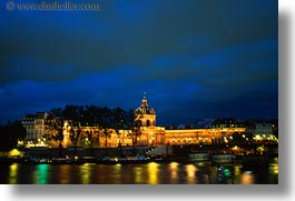artes, baux, buildings, ecole, europe, france, glow, horizontal, lights, nite, paris, photograph