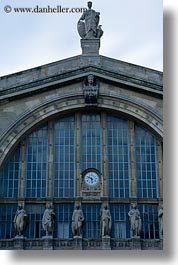 buildings, europe, france, gare du nord, paris, vertical, photograph